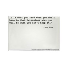It is what you read ~ Wilde Rectangle Magnet