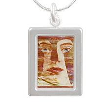 Goddess Athena Silver Portrait Necklace