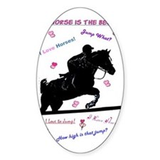 Horse Jumping Doodles Decal