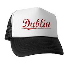 Dublin, Vintage Red Trucker Hat