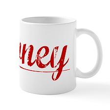 Downey, Vintage Red Mug