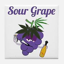 Smokin Ts Sour Grape Character Tile Coaster
