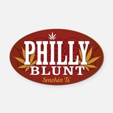 Smokin Ts Philly Oval Car Magnet