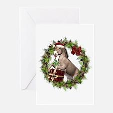 Donkey Santa Hat Wreath Greeting Cards 20 Pk