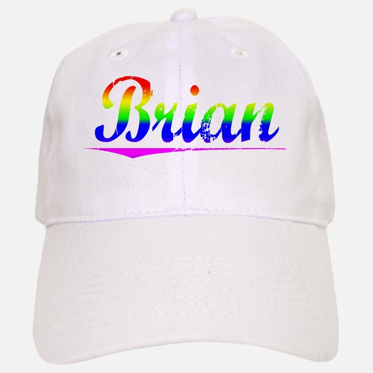 Brian, Rainbow, Baseball Baseball Cap