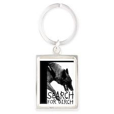 Nosework Wendy Search for Birch Portrait Keychain