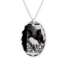 Nosework Wendy Search for Birc Necklace Oval Charm
