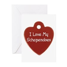 Love My Schapendoes Greeting Cards (Pk of 10)