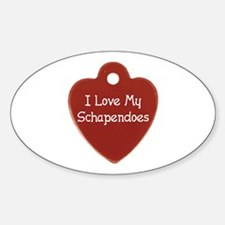 Love My Schapendoes Oval Decal