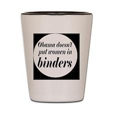 Obamabinderbutton Shot Glass