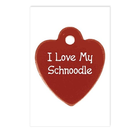 Love My Schnoodle Postcards (Package of 8)