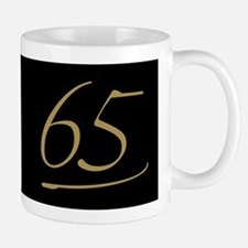 Black & Gold 65th Birthday Mug