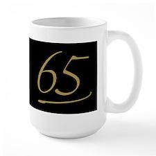 Black & Gold 65th Birthday Mug
