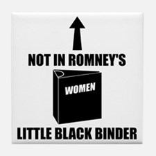 Romneys Little Black Binder of Women Tile Coaster