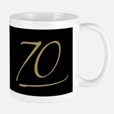 Black & Gold 70th Birthday Mug