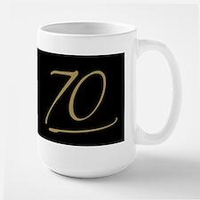 Black & Gold 70th Birthday Mug
