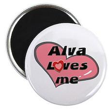 alva loves me Magnet