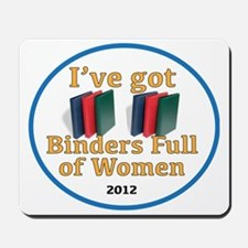 BINDERS_FULL_OF_WOMEN_LOGO Mousepad