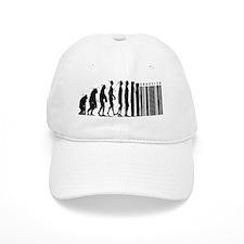 Cave Man Bar Code Evolution Baseball Cap