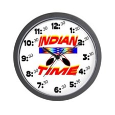 NATIVE AMERICAN CLOCK INDIAN TIME Wall Clock