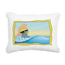 Sunny Rocker & Foca Rectangular Canvas Pillow