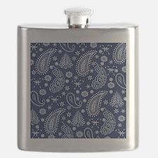 Christmas paisley Flask