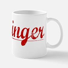 Flickinger, Vintage Red Mug