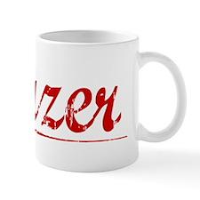 Frazer, Vintage Red Small Mug
