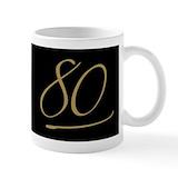 Mugs 80th birthday Coffee Mugs