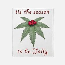 Tis the Season to be Jolly Holiday W Throw Blanket