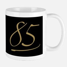 Black & Gold 85th Birthday Mug