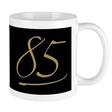 Black & Gold 85th Birthday Mug