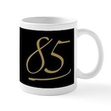 Black & Gold 85th Birthday Small Mugs