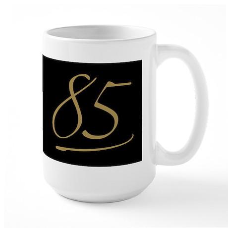 Black & Gold 85th Birthday Large Mug