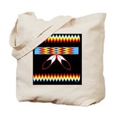 NATIVE AMERICAN BEADED STRIP Tote Bag