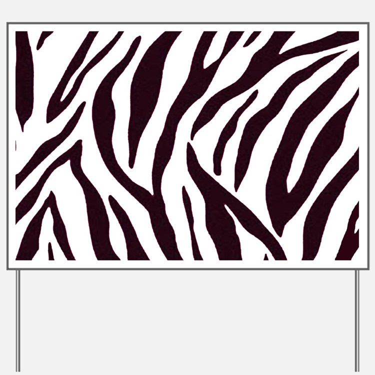 Zebra Stripes Yard Sign