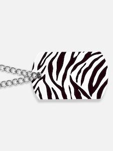 Zebra Stripes Dog Tags