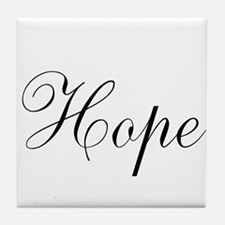 Hope Inspirational Word Tile Coaster