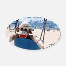 Ernie The Sock Monkeys Special Sum Oval Car Magnet