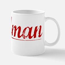 Goldman, Vintage Red Mug