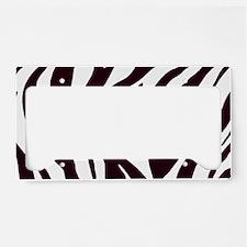 Zebra Stripes License Plate Holder