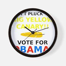 Big Yellow Canary Wall Clock