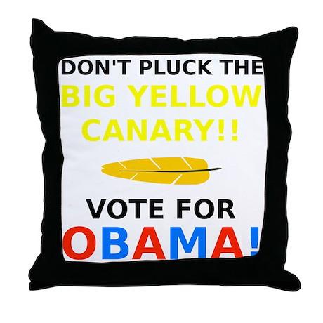 Big Yellow Canary Throw Pillow