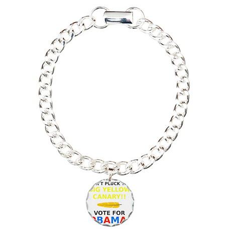 Big Yellow Canary Charm Bracelet, One Charm
