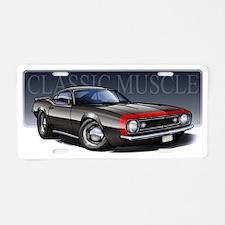67_Black_R2 Aluminum License Plate