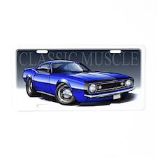 67_Blue_B2 Aluminum License Plate