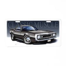 67_Black_W2 Aluminum License Plate