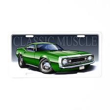 67_Green_W2 Aluminum License Plate