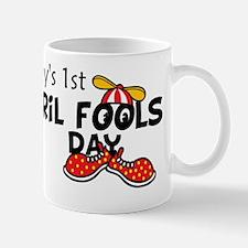 Babys First April Fools Day Mug