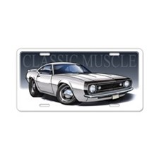 67_White_B2 Aluminum License Plate